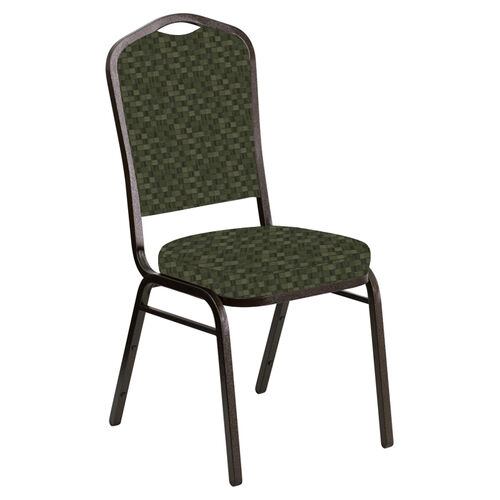 Our Embroidered Crown Back Banquet Chair in Empire Fern Fabric - Gold Vein Frame is on sale now.
