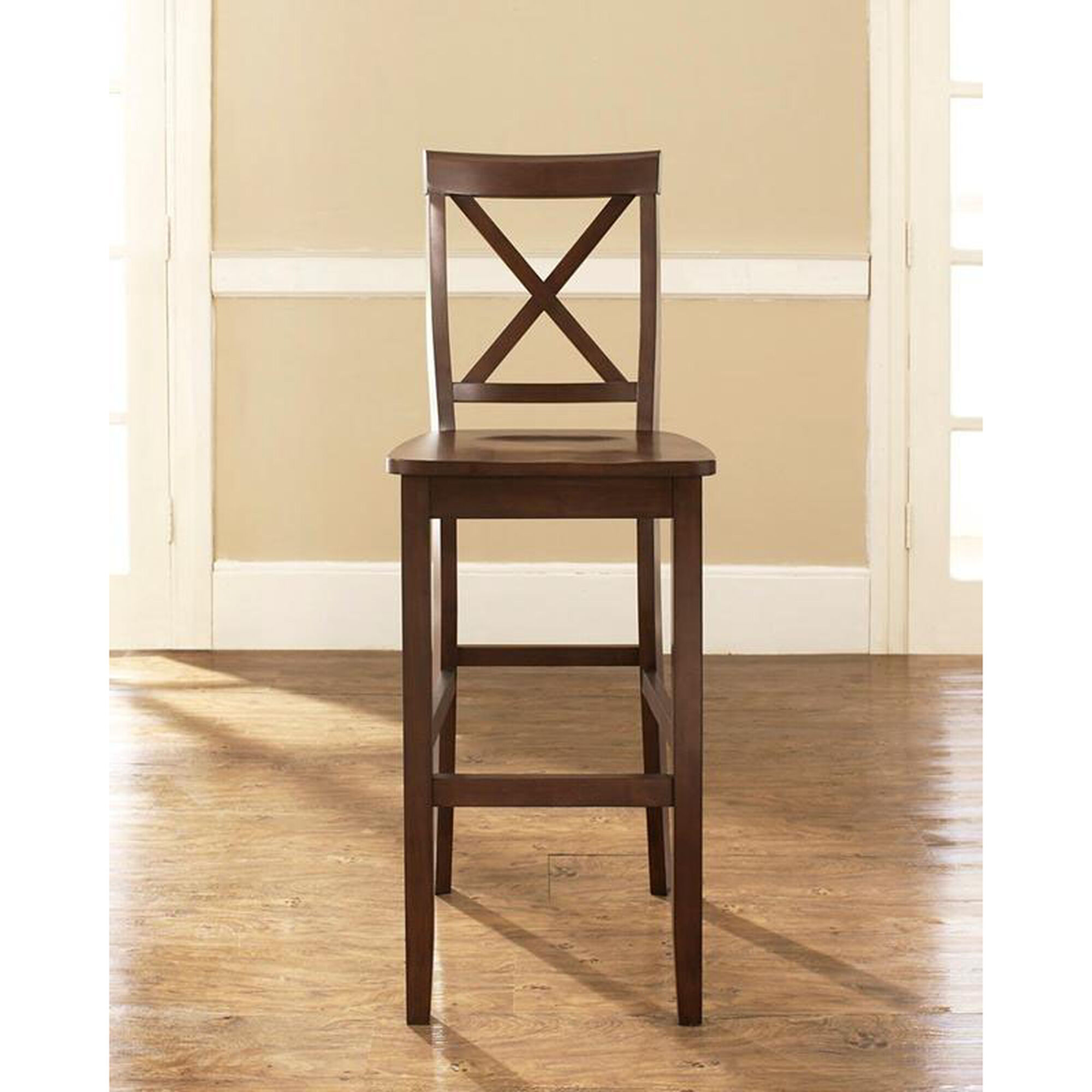 Crosley X Back Bar Stool With 30 Seat Height Set Of 2