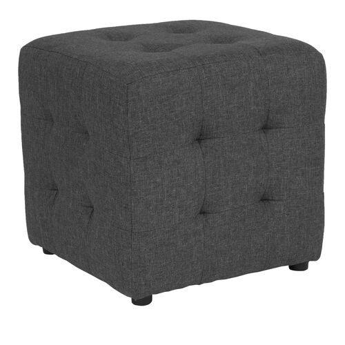 Our Avendale Tufted Upholstered Ottoman Pouf in Dark Gray Fabric is on sale now.