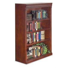 kathy ireland Home™ Huntington Collection 36''W x 48''H Open Bookcase -Vibrant Cherry