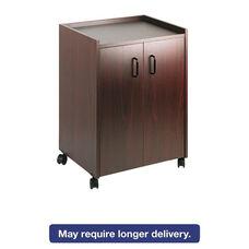 Safco® Mobile Refreshment Center - One-Shelf - 23w x 18d x 31h - Mahogany