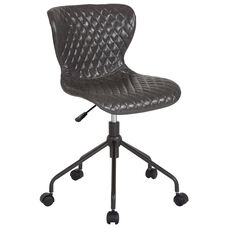 Somerset Home and Office Upholstered Task Chair in Gray Vinyl