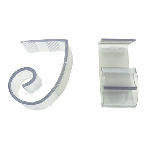 "Polycarbonate ""JV"" Skirting Clip for 1 1/2"" to 2"" Edge Tables - 100 Per Pack"