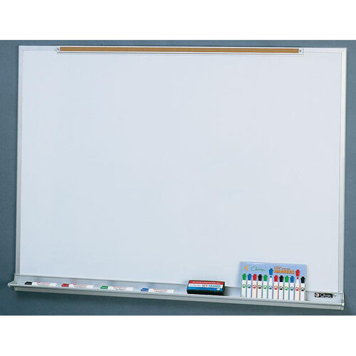 Our Quick Ship LCS Deluxe Markerboard with Marker Tray and Map Rail - 48