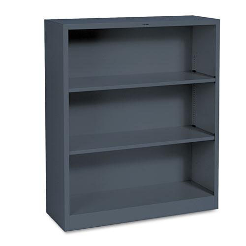 Our HON® Metal Bookcase - Three-Shelf - 34-1/2w x 12-5/8d x 41h - Charcoal is on sale now.