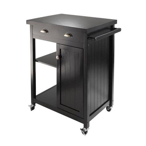 Timber Kitchen Cart with Wainscot Panel