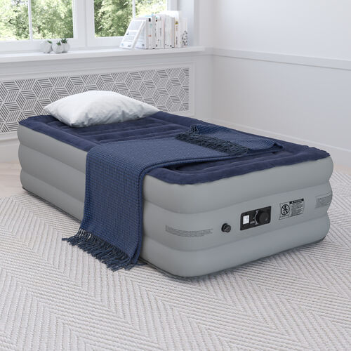 18 inch Air Mattress with ETL Certified Internal Electric Pump and Carrying Case - Twin