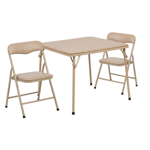 Our Kids Tan 3 Piece Folding Table and Chair Set is on sale now.