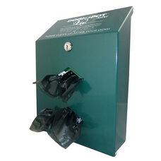 Green Aluminum Junior Bag Dispenser - Two Dispenser Slots