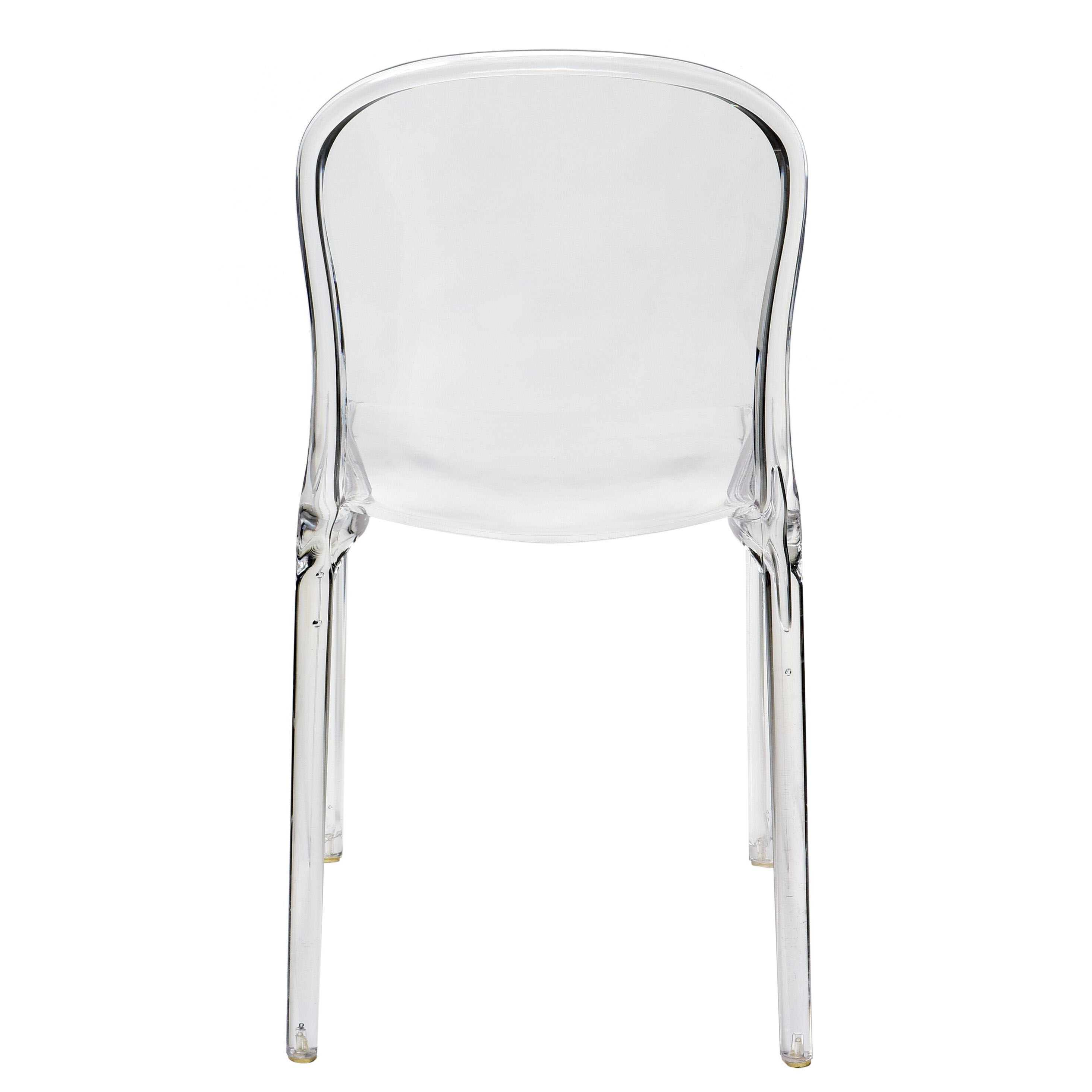 Our Genoa Polycarbonate Dining Chair   Clear Is On Sale Now.
