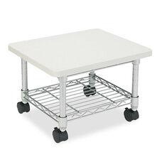 Safco® Under desk Printer/Fax Stand - One-Shelf - 19w x 16d x 13-1/2h - Gray