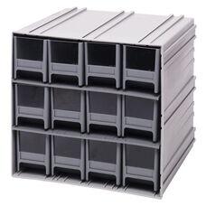Interlocking Storage Cabinet with 12 Drawers - Gray
