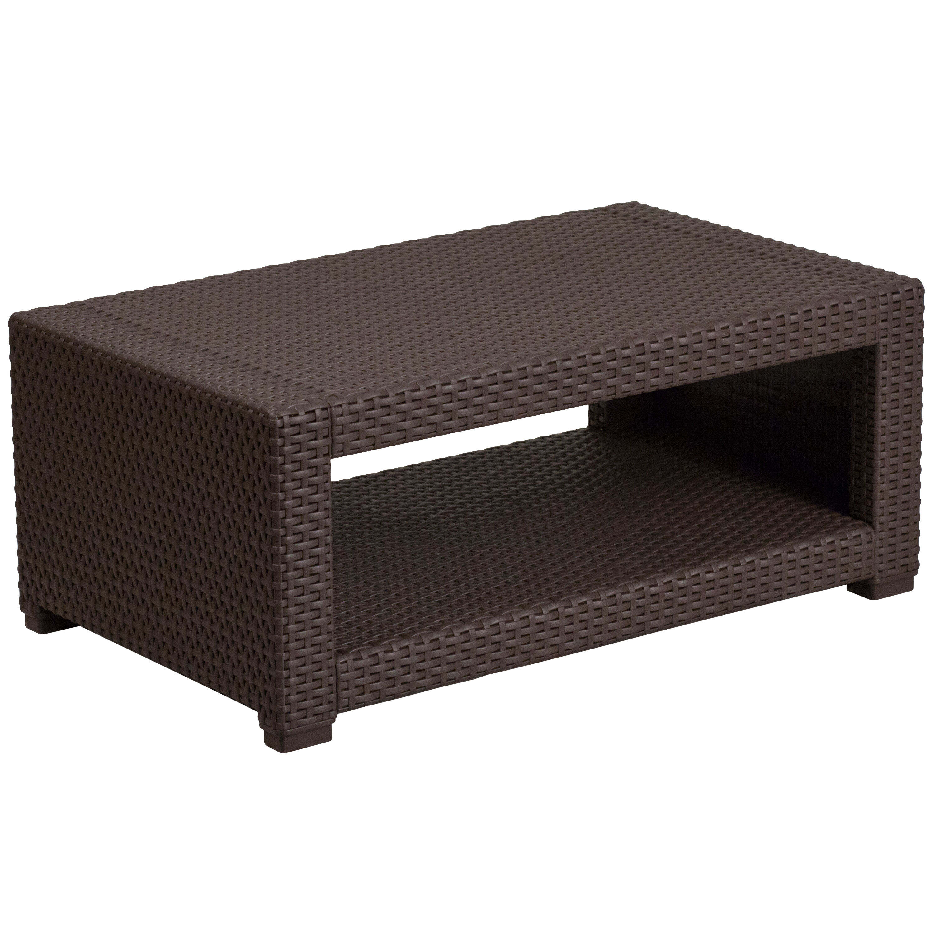... Our Chocolate Brown Faux Rattan Coffee Table Is On Sale Now.