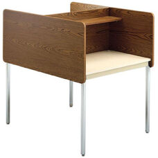 Double-Sided Fixed Height Starter Study Carrel - 37