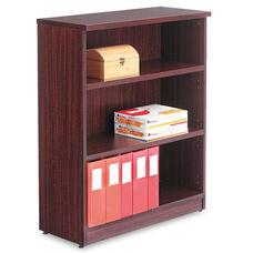 Alera® Valencia Series Bookcase - Three-Shelf - 31 3/4w x 14d x 39 3/8h - Mahogany