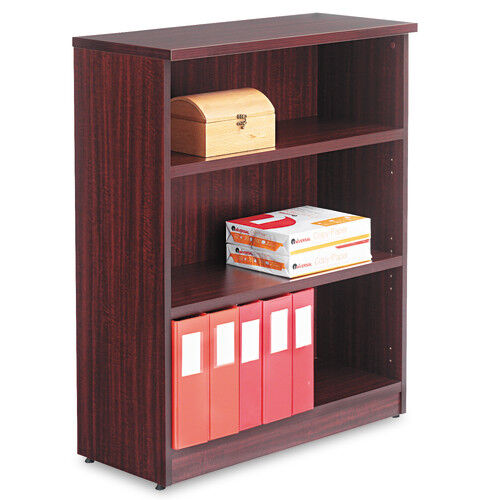 Our Alera® Valencia Series Bookcase - Three-Shelf - 31 3/4w x 14d x 39 3/8h - Mahogany is on sale now.