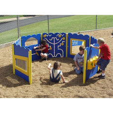 Wheelchair Accessible Polyethylene Constructed Tot Town Kiddie Corral with Multiple Interactive Children