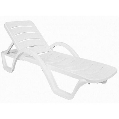 Our Sunrise Resin Pool Chaise Lounge With Arms And Hidden