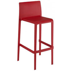 Pedrali Stackable Poly Shell Outdoor Barstool - Red