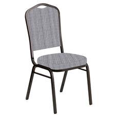 Crown Back Banquet Chair in Sammie Joe Aluminum Fabric - Gold Vein Frame