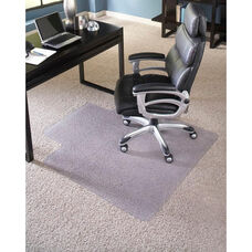 EverLife 45''W x 53''D Extra High Pile Beveled Edge Anchorbar Chairmat with 25''W x 12''D Lip
