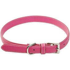 Perry Street Luxury Medium Dog Collar - Genuine Leather - Wildberry