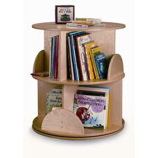 Two Level Birch Laminate Carousel Book Stand