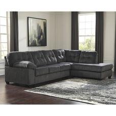 Signature Design by Ashley Accrington 2-Piece LAF Sofa Sectional in Granite Microfiber