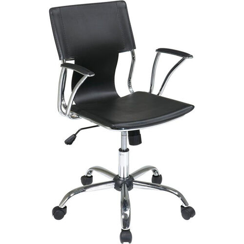 Our Ave Six Dorado Contour Seat and Back Vinyl Office Chair with Heavy Duty Chrome Base - Black is on sale now.