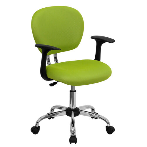 Our Mid-Back Apple Green Mesh Padded Swivel Task Office Chair with Chrome Base and Arms is on sale now.