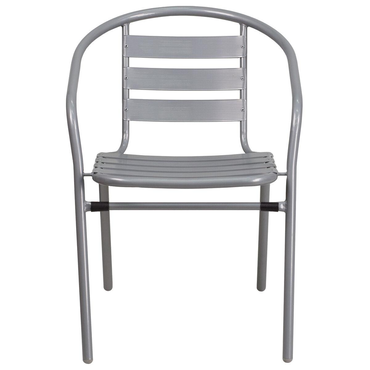 Silver Chair W Aluminum Slats Tlh 017c Gg Bizchair Com