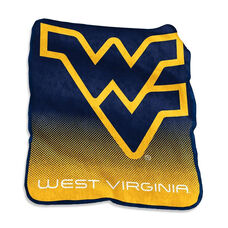 West Virginia University Team Logo Raschel Throw