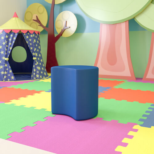 """Soft Seating Collaborative Moon for Classrooms and Common Spaces - 18"""" Seat Height (Blue)"""