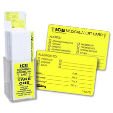 Tabbies Acrylic Emergency Information Card Display