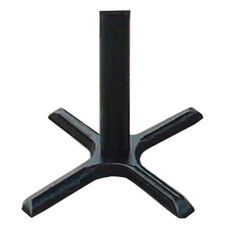 Cast Iron Table Base Set with Table Height Column - Black