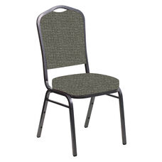 Crown Back Banquet Chair in Interweave Slate Fabric - Silver Vein Frame