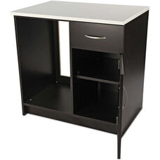 Alera Plus™ Hospitality Base Espresso Laminate Cabinet with One Door and One Drawer - 36