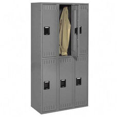 Tennsco Wardrobe Locker - Double Tier - 3 Wide
