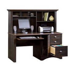 Harbor View 62.25''W Computer Desk with Hutch - Antiqued Paint