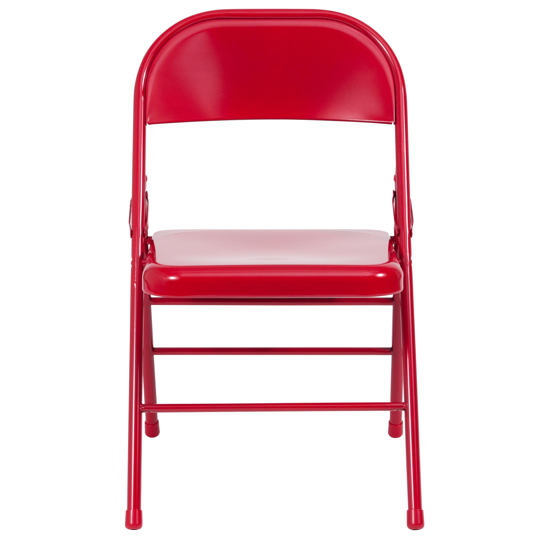... Our HERCULES Series Triple Braced U0026 Double Hinged Red Metal Folding  Chair Is On Sale ...