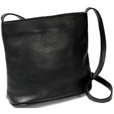 Shoulder Bag - Colombian Vaquetta Leather - Black