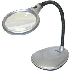 DeskBrite LED 2x Magnification Desk Lamp with 5x Power Spot Lens