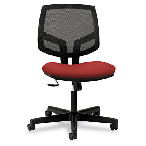 Our HON® Volt Series Mesh Back Task Chair with Synchro-Tilt - Crimson Fabric is on sale now.