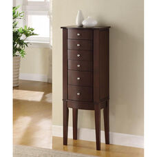 Jewelry Armoire - Merlot and Black Lining