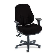 Lorell Multi -Task Chair - High -Back - 26 -7/8''W x 28''L x 39'' - 44''H - Black
