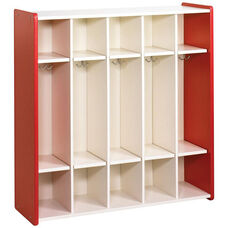 1000 Series 5 Preschool Size Compartment Lockers with Double Hooks