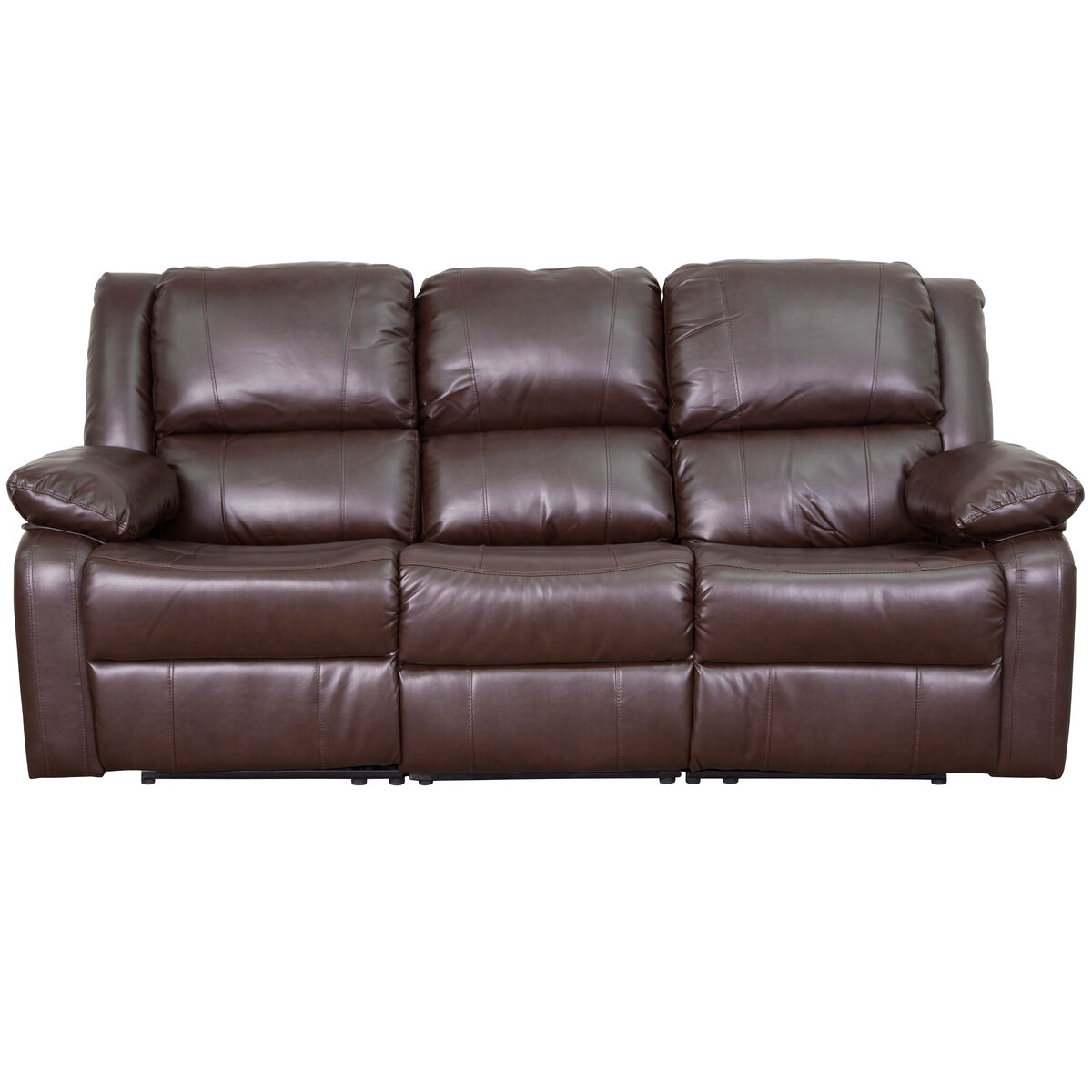 Brown Leather Recliner Sofa BT-70597-SOF-BN-GG | Bizchair.com