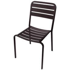 Vista Stackable Outdoor Aluminum Side Chair - Black
