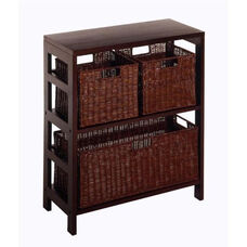 Leo 4-Pc Storage Shelf and Baskets