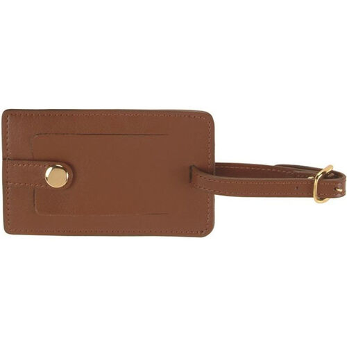 Our Snap Luggage Tag - Top Grain Nappa Leather - Tan is on sale now.